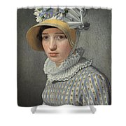 Portrait Of The Model Maddalena Or Anna Maria Uhden Shower Curtain