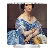 Portrait Of The Princesse De Broglie Shower Curtain
