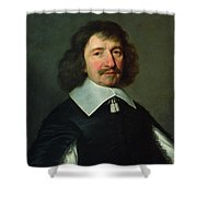 Portrait Of Vincent Voiture 1597-1648 C.1643-44 Oil On Canvas Shower Curtain
