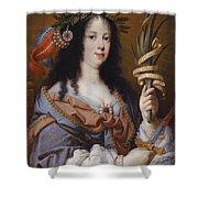 Portrait Of Vittoria Della Rovere As Saint Vittoria Shower Curtain