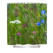 Portrait Of Wildflowers Shower Curtain