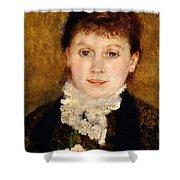 Portrait Of Woman Shower Curtain