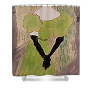 Portrait Of Yvette Guilbert Shower Curtain