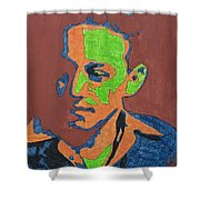 Portrait Plan Of Tennessee Williams  Shower Curtain