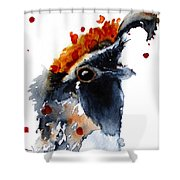 Portrait Posing Shower Curtain