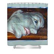 Portrait Sculpture Shower Curtain