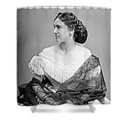 Portrait Woman, C1865 Shower Curtain