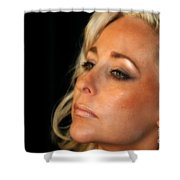 Portrait Young Woman Shower Curtain
