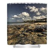 Portscatho Beach  Shower Curtain