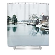 Portsmouth In Winter Shower Curtain