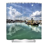 Portsmouth Old Harbour  Shower Curtain