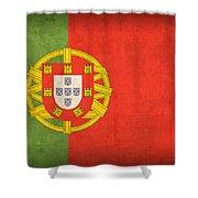 Portugal Flag Vintage Distressed Finish Shower Curtain