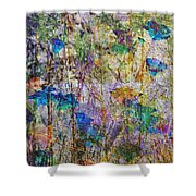 Posies In The Grass Shower Curtain
