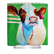 Posing Cow Shower Curtain
