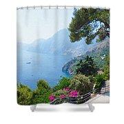 Positano Italy Amalfi Coast Delight Shower Curtain