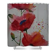 Positively Poppies Shower Curtain