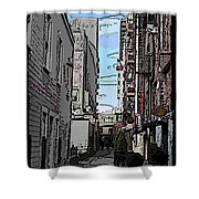 Post Alley 6 Shower Curtain