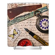Post Card And Letter Shower Curtain