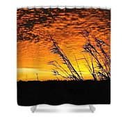 Post Hurricane Rita Clouds At Dockside In Beaumont Texas Usa Shower Curtain