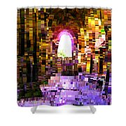 Post-it Archway Shower Curtain