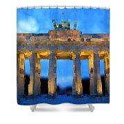 Post-it Art Berlin Brandenburg Gate Shower Curtain
