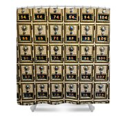 Post Office Combination Lock Boxes Shower Curtain