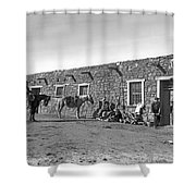 Post Office In Ganado, Arizona Shower Curtain