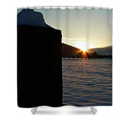 Post Top Rays Shower Curtain