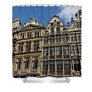 Postcard From Brussels - Grand Place Elegant Facades Shower Curtain