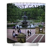 Postcard From Central Park Shower Curtain