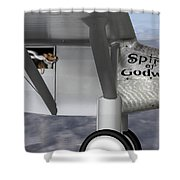 Postcards From Otis - Corgi Crossing Shower Curtain