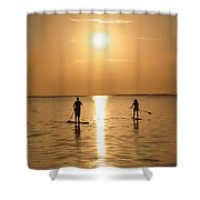 Postcards From Paradise Shower Curtain