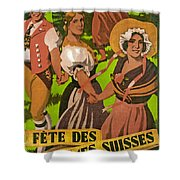 Poster Advertising F?te Des Costumes Shower Curtain