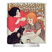 Poster Advertising The Compagnie Francaise Des Chocolats Et Des Thes Shower Curtain