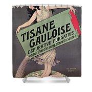Poster Advertising Tisane Gauloise Shower Curtain