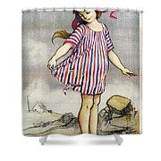 Poster Banque De Paris Shower Curtain