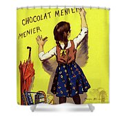 Poster Chocolate, 1893 Shower Curtain