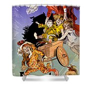 Poster For Aux Buttes Chaumont Toy Shower Curtain