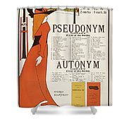 Poster For 'the Pseudonym And Autonym Libraries' Shower Curtain
