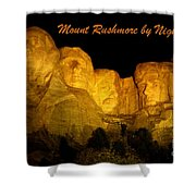 Poster Of Mount Rushmore Shower Curtain
