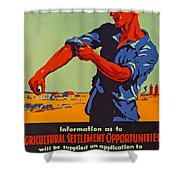 Poster Promoting Emigration To Canada Shower Curtain