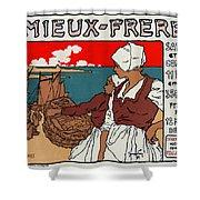 Poster Sardines, 1899 Shower Curtain