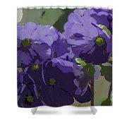 Posterised Flowers Shower Curtain