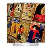 Posters In Paris Shower Curtain