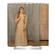 Posthumous Portrait Of Marguerite Landuyt Shower Curtain