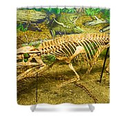 Postosuchus Fossil Shower Curtain
