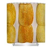 Potato Chip Rows 1 Shower Curtain