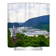 Potomac River At Harpers Ferry Shower Curtain