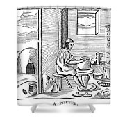 Potter, 1659 Shower Curtain