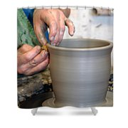 Potters Hands Shower Curtain